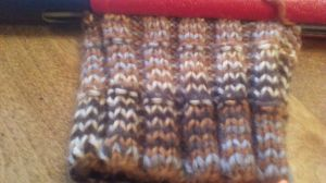 Close up of stitches and colors